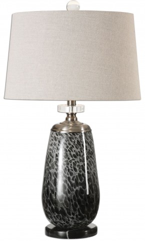 Vergato Charcoal Glass Table Lamp