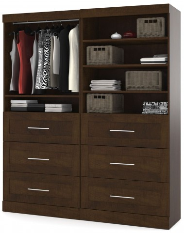 """Pur Chocolate 72"""" Classic Drawer Unit"""