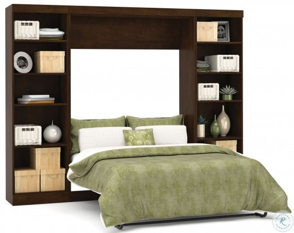 """Pur Chocolate 109"""" Open Storage Full Wall Bed"""