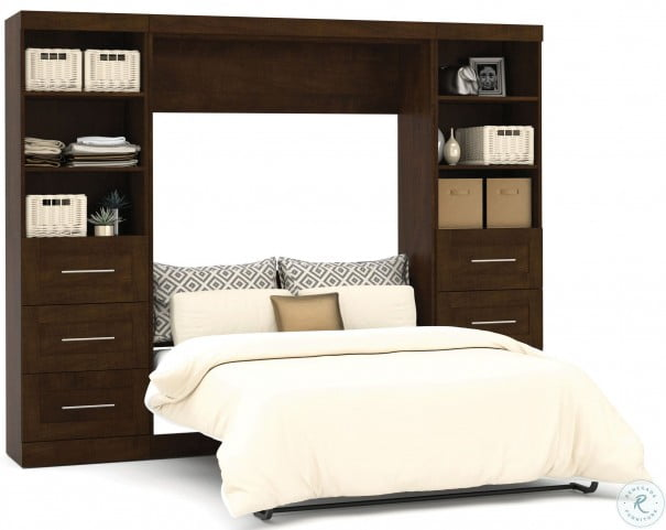 "Pur Chocolate 109"" Drawer Full Wall Bed"
