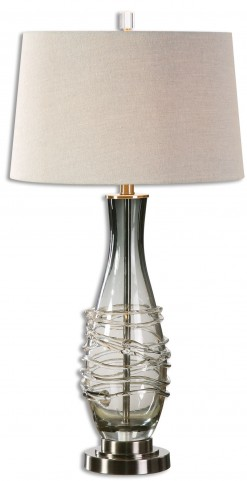 Durazzano Gray Glass Table Lamp
