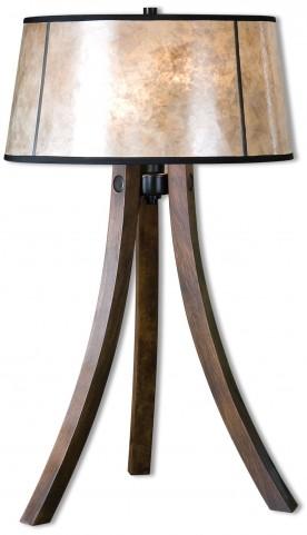 Maloy Wood Legs Table Lamp