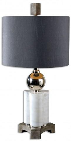 Dantoni White Alabaster Table Lamp