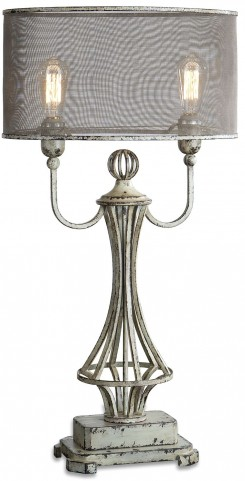Pontoise Aged Ivory Table Lamp