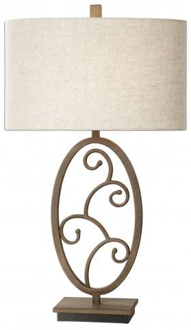 Salina Forged Metal Lamp