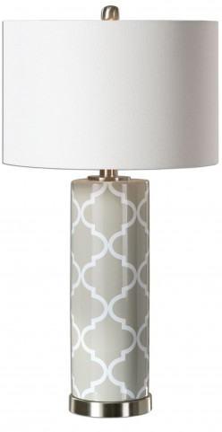 Anzano Gray Glass Lamp