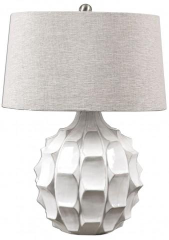 Guerina Scalloped White Lamp