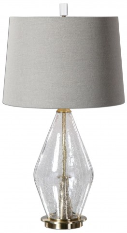Spezzano Crackled Glass Lamp