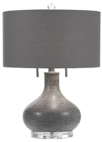 Canelo Distressed Black Glass Lamp