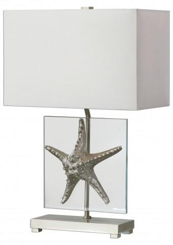 Silver Starfish Table Lamp