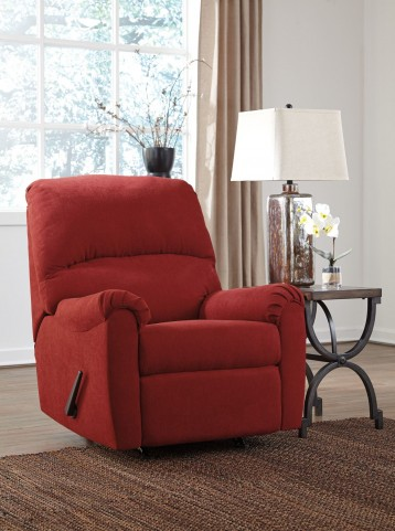 Zeth Crimson Rocker Recliner