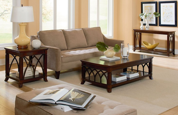 Abbey Henna Cherry Occasional Table Set