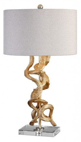 Twisted Vines Gold Table Lamp
