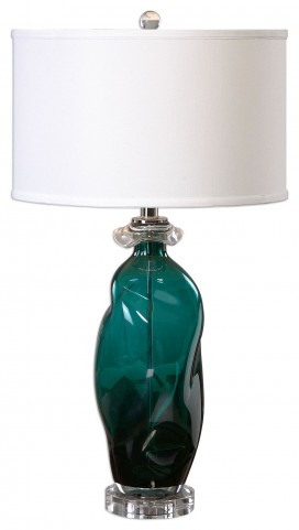 Rotaldo Blue-Green Glass Table Lamp