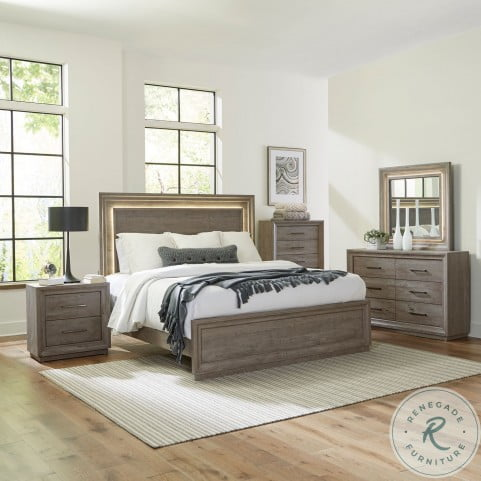 Horizons Graystone King Panel Bed