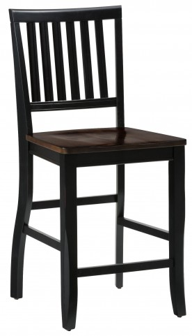 Braden Antique Black Splat Back Counter Stool Set of 2