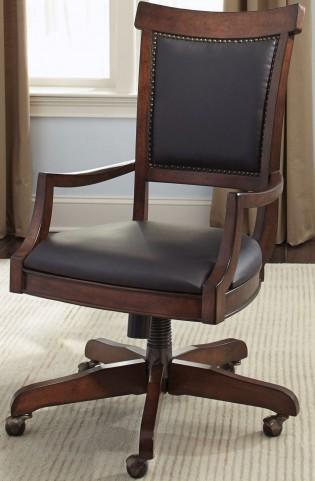 Brayton Manor Cognac Jr Executive Desk Chair