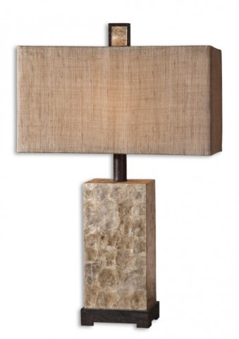 Rustic Mother Of Pearl Table Lamp