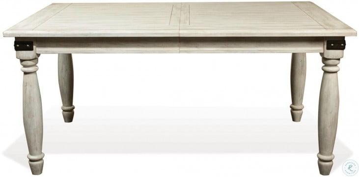 Regan Farmhouse White Extendable Rectangular Dining Table