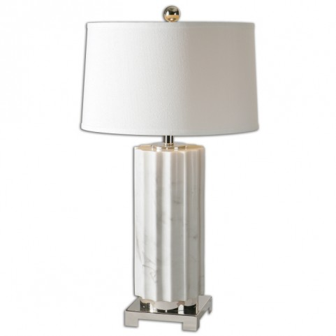 Castorano White Marble Lamp