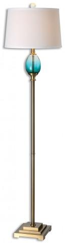 Cavaillon Blue-Green Glass Floor Lamp