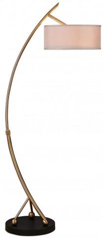 Vardar Curved Brass Floor Lamp
