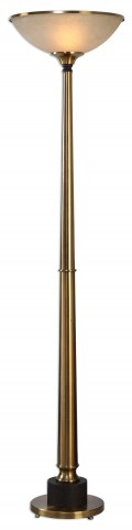 Monroe Brushed Brass Floor Lamp