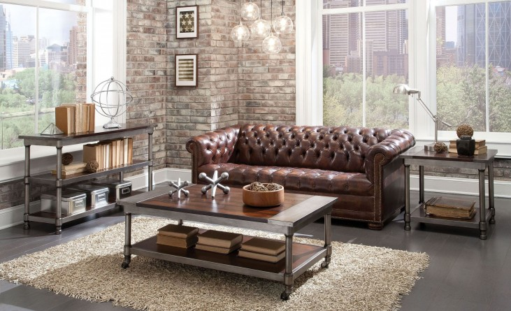 Hudson Warm Cherry 3 Piece Occasional Table Set