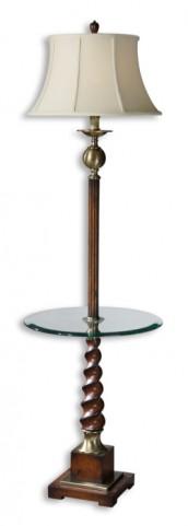 Myron Twist End Table Floor Lamp