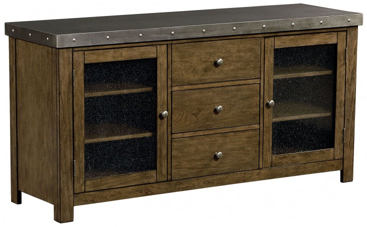"Riverton Dusty Weathered Wood 60"" Entertainment Console"