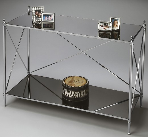 2863220 Modern Expressions Nickel Console Table
