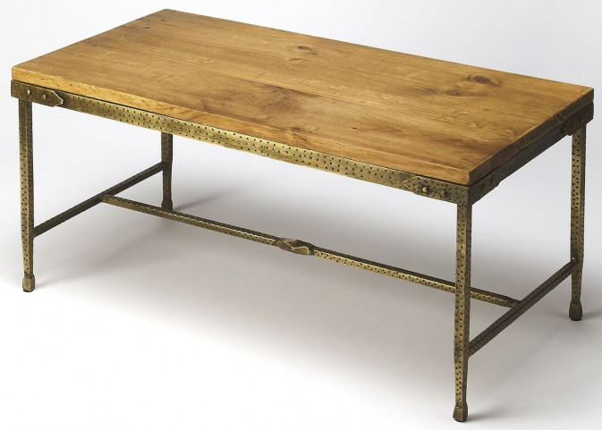 Gratton Iron & Wood Cocktail Table