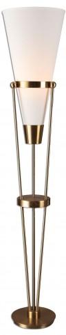 Bergolo Brushed Brass Floor Lamp