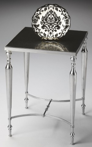 Modern Expressions Nickel Side Table