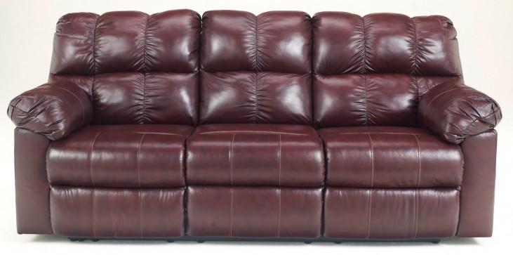 Kennard Burgundy Reclining Sofa