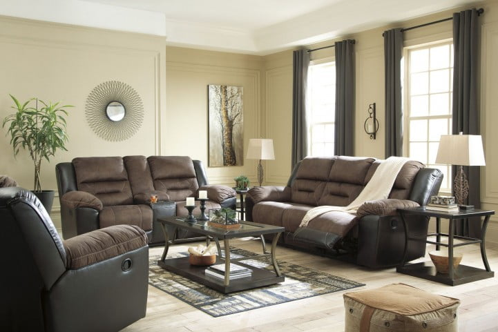 Earhart Chestnut Reclining Living Room Set