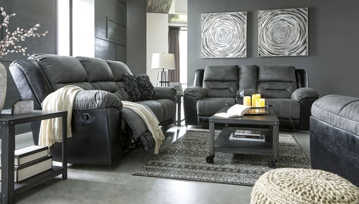 Earhart Slate Reclining Living Room Set