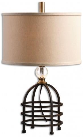 Ladonia Rust Black Table Lamp