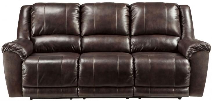 Yancy Walnut Reclining Sofa