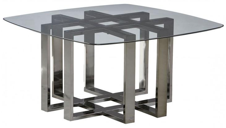 Hashtag Black Chrome Metal Cocktail Table