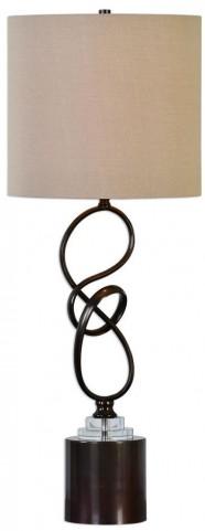 Aprilia Twisted Dark Bronze Lamp