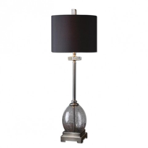 Denia Gray Glass Table Lamp