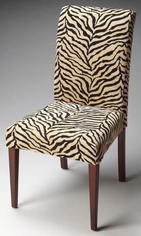 Loft Zebra Print Fabric Parsons Chair