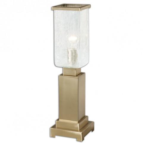 Vinchio Crackled Glass Hurricane Lamp