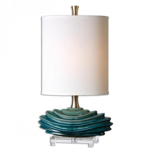 Talucah Teal Blue Table Lamp