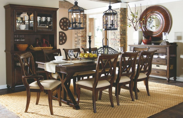 Thatcher Extendable Trestle Dining Room Set