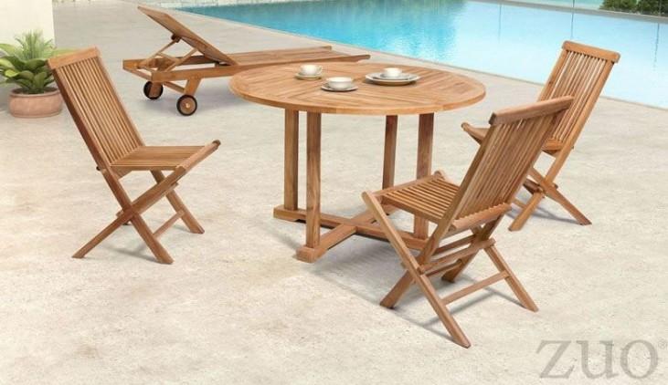 Regatta Natural Round Dining Room Set