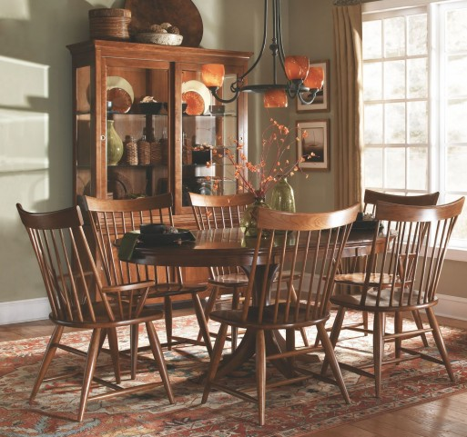 Cherry Park Round Dining Room Set