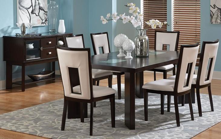 Delano Espresso Cherry Extendable Rectangular Dining Room Set