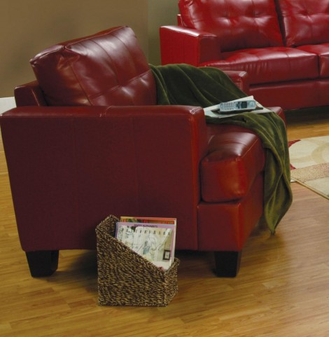 Samuel Red Leather Chair - 501833